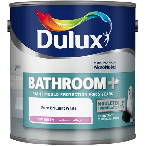Dulux Bathroom+ 1L - Soft Sheen Brilliant White (choose size)
