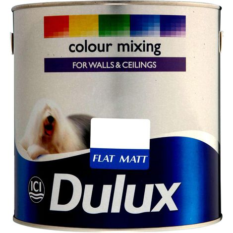 Dulux Flat Matt Paint Colours 2.5L (various colours)