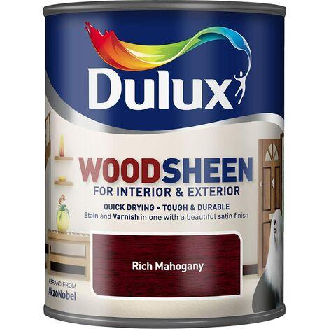 Dulux Interior & Exterior Woodsheen 750ml Rich Mahogany