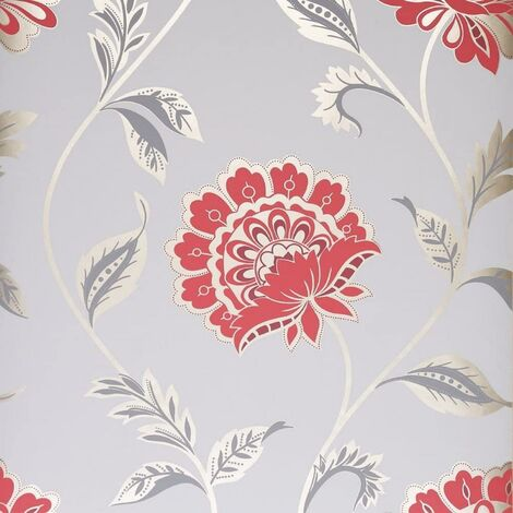 """main image of """"Dulux Kerala Ruby Grey And Red Wallpaper Feature wall Timeless Classic"""""""