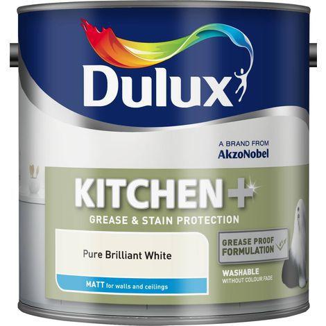 Dulux Kitchen Easycare Matt Pure Brilliant White 2.5 Litres