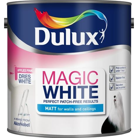 Dulux Magic White Matt Pure Brilliant White (select size)