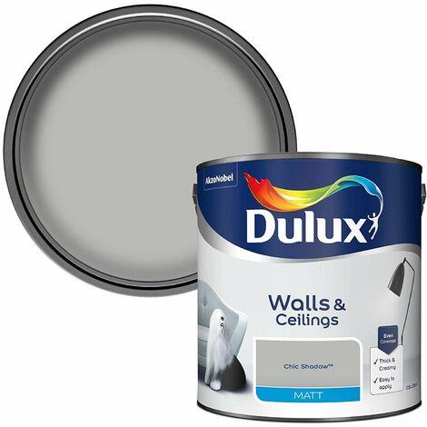 Dulux Matt Emulsion For Walls/Ceilings - Chic Shadow 2.5L