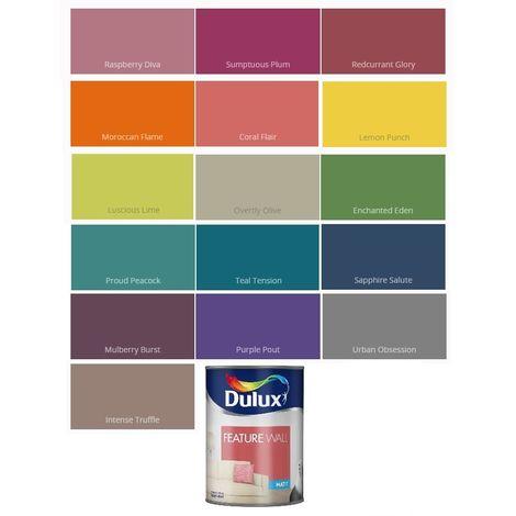 Dulux Matt Feature Wall 1.25L (select colour)