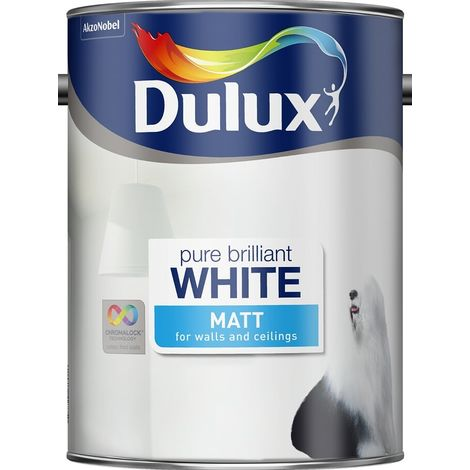 Dulux Matt Pure Brilliant White (select size)