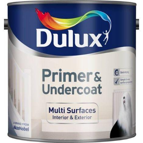 Dulux Multi Surfaces Primer & Undercoat Quick Dry 250ml / 750ml / 2.5 Litres