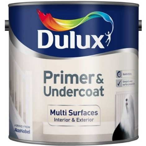 Dulux Multi Surfaces Primer & Undercoat Quick Dry 250ml / 750ml / 2.5 Litres