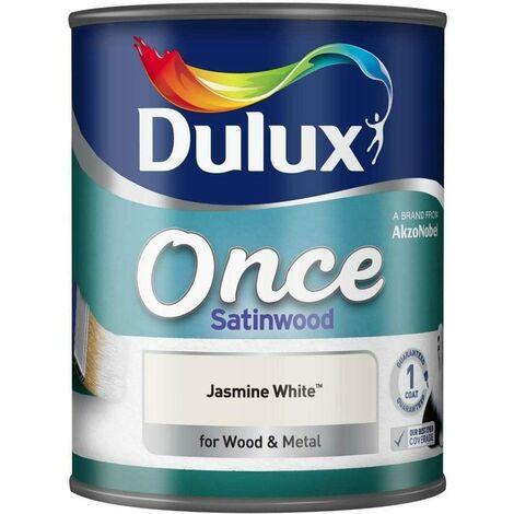 Dulux Once Satinwood 750ml Jasmine White