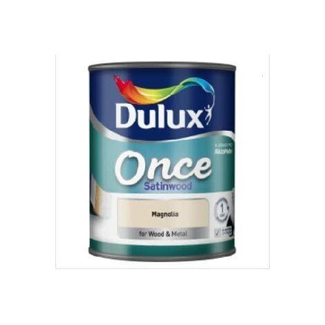 Dulux Once Satinwood 750ml Magnolia