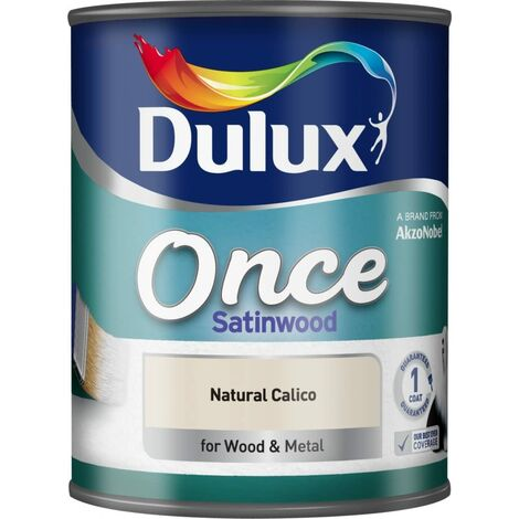 Dulux Once Satinwood 750ml Natural Calico