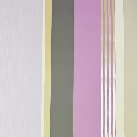 Dulux Oslo Mauve Striped Wallpaper Lilac Grey Metallic Gold Stripes Textured
