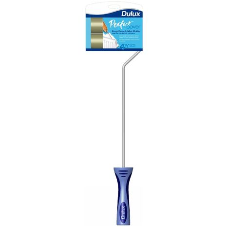 Dulux - Perfect Cover Easy Reach Mini Paint Roller - Extra Length Arm 112mm