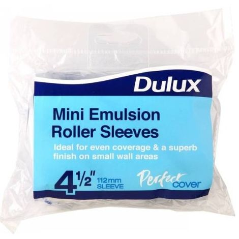 Dulux - Perfect Cover Mini Emulsion Paint Roller Sleeve - 2 Pack