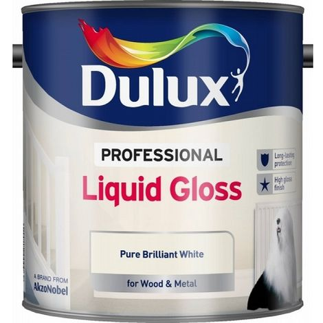 Dulux Professional Liquid Gloss PBW (select size)