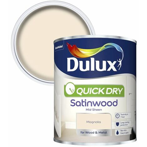 Dulux Quick Dry Satinwood 750ml (choose colour)