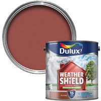 Dulux Quick Drying Dirt Resistant Weathershield Exterior Walls Smooth Masonry Paint - Pure Brilliant White - 2.5L