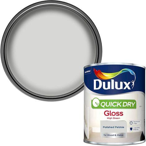 Dulux Quick Drying Gloss 750ml Polished Pebble