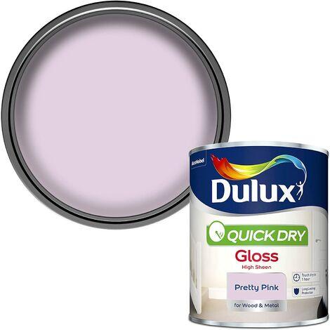 Dulux Quick Drying Gloss 750ml Pretty Pink