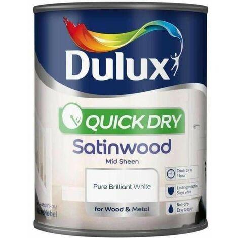 Dulux Quick Drying Gloss 750ml Pure Brilliant White