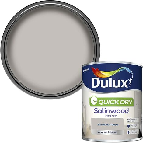 Dulux Quick Drying Satinwood 750ml Perfectly Taupe