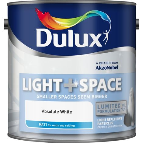 """main image of """"Dulux Retail Matt Light and Space Absolute White Paint 2.5 Litres / 5 Litres"""""""