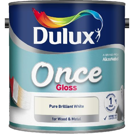 Dulux Retail Once Gloss Pure Brilliant White 750ml / 1.25L / 2.5 Litres