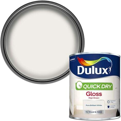 Dulux Retail Quick Dry Gloss Pure Brilliant White 2.5 Litres / 750ml