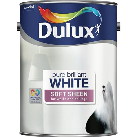 Dulux Soft Sheen Pure Brilliant White (select size)
