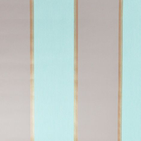 Dulux Stripe Wallpaper Henley Duck Egg Blue Taupe Metallic Copper Paste Wall