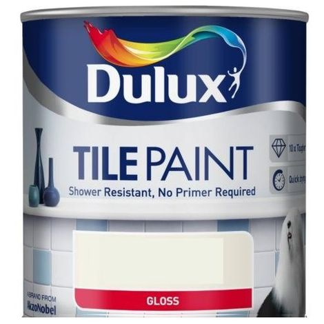 Dulux Tile Paint 600ml (choose colour)
