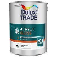 Dulux Trade Acrylic Gloss - Pure Brilliant White - 5L and 2.5L