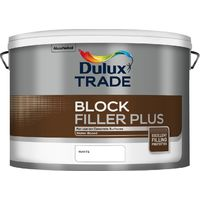 Dulux Trade Blockfiller Plus 10 Litres White Water-based Paint Tracked Postage