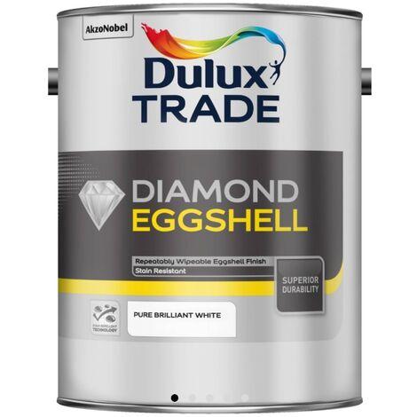 Dulux Trade Diamond Eggshell Pure Brilliant White - 2.5 Litre