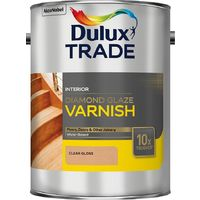 Dulux Trade Diamond Glaze Gloss Varnish Clear (select size)