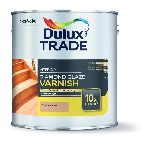 Dulux Trade Diamond Glaze Satin Varnish Clear (select size)