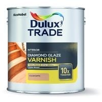 Dulux Trade Diamond Glaze Satin Varnish Clear (select size)