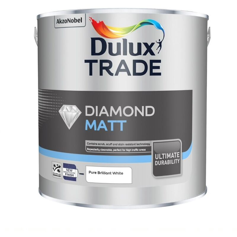 Image of Dulux Trade Diamond Matt PBW 2.5L