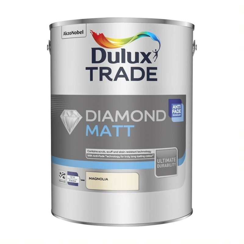 Image of Dulux Trade Diamond Matt Magnolia 5L