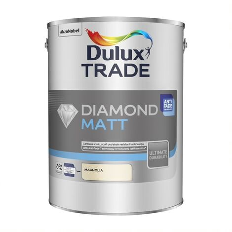 Dulux Trade Diamond Matt Pure Brilliant White / Magnolia 2.5L or 5 Litres