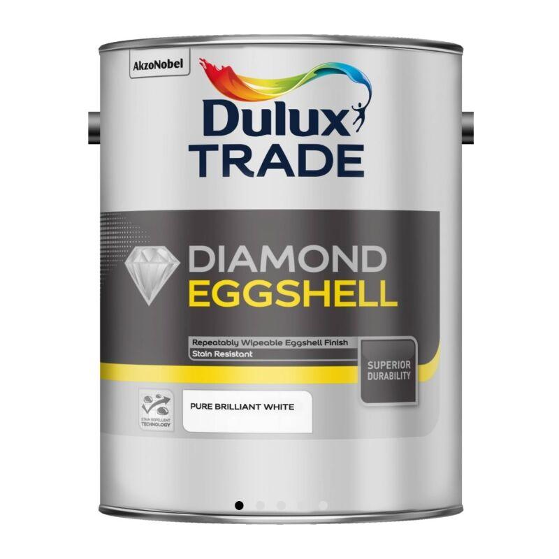 Image of Dulux Trade Diamond Eggshell Pure Brilliant White - 2.5 Litre