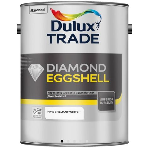 Dulux Trade Diamond Quick Dry Eggshell (select size & colour)