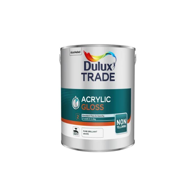 Image of Dulux Trade Acrylic Gloss - Pure Brilliant White - 5L