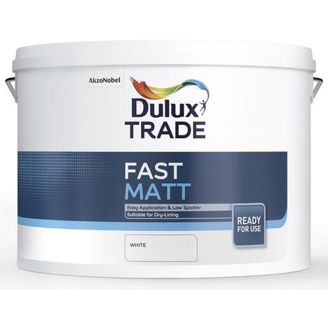 Dulux Trade Fast Matt 10 Litres (select colour)