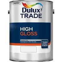 Dulux Trade High Gloss Paint Pure Brilliant White / White / Black - All Sizes