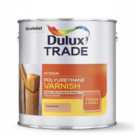 Dulux Trade Polyurethane Varnish Satin (select size)