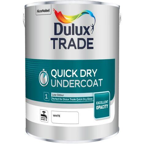 Dulux Trade Quick Dry Undercoat - White - 1L / 2.5L / 5 Litres