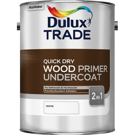 Dulux Trade Quick Dry Wood Primer Undercoat White (selcet size)