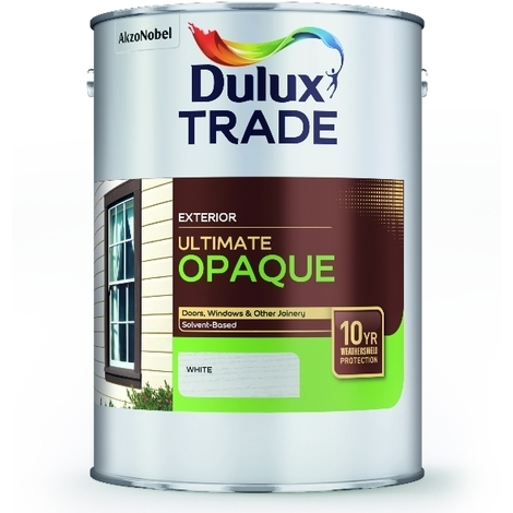 1 Litre White Dulux Trade Ultimate Weathershield Opaque