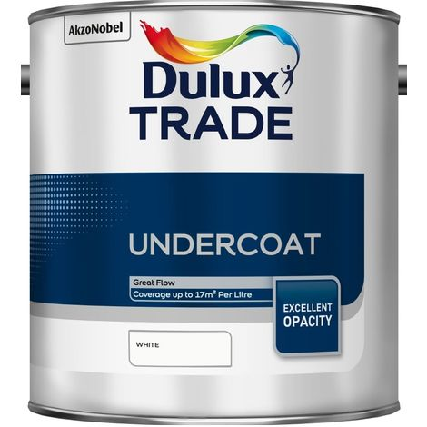 Dulux Trade Undercoat Standard Colours (select size & colour)