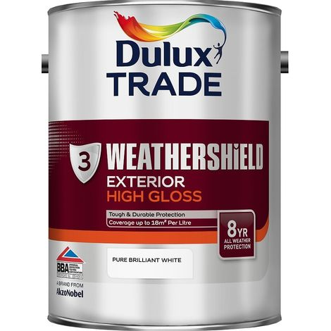 Dulux Trade Weathershield Exterior High Gloss (select size & colour)